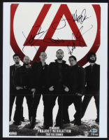 "Linkin Park ""Projekt Revolution"" 14x18 Custom Matted 12x17 Poster Signed By (5) with Mike Shinoda, Chester Bennington, Rob Bourdon, Joe Hahn, Brad Delson (Beckett Hologram) (See Description) at PristineAuction.com"
