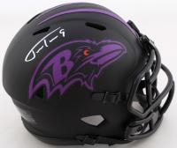 Justin Tucker Signed Ravens Eclipse Alternate Speed Mini-Helmet (JSA COA) at PristineAuction.com