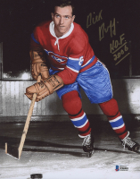 "Dick Duff Signed Canadiens 8x10 Photo Inscribed ""HOF 2006"" (Beckett COA) at PristineAuction.com"