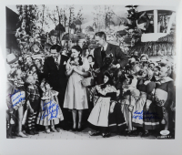 """""""The Wizard of Oz"""" 18.5x16 Photo Signed by (3) with Mickey Carroll, Jerry Maren & Karl Slover with Mulitple Inscriptions"""" (JSA COA) at PristineAuction.com"""