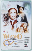 "Mickey Carroll, Karl Stover, & Donna Hardaway Signed ""The Wizard of Oz"" 15.5x24 Poster Inscribed ""Munchkin Love"" & ""1st Trumpeter"" (JSA COA) at PristineAuction.com"