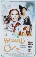 "Mickey Carroll, Karl Stover, & Donna Hardaway Signed ""The Wizard of Oz"" 15.5x24 Poster Inscribed ""Trumpeter"" & ""Munchkin"" (JSA COA) at PristineAuction.com"