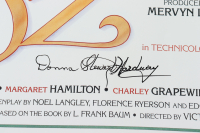 """Mickey Carroll, Karl Stover, & Donna Hardaway Signed """"The Wizard of Oz"""" 15.5x24 Poster Inscribed """"Trumpeter"""" & """"Munchkin"""" (JSA COA) at PristineAuction.com"""