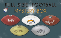 Schwartz Sports Football Player Signed Full Size Football Mystery Box- Series 26 (Limited to 150) at PristineAuction.com