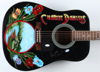 "Charlie Daniels Signed 41"" Hand-Painted Acoustic Guitar (JSA COA & PSA Hologram) (See Description) at PristineAuction.com"