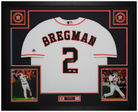 Alex Bregman Signed Astros 35x43 Custom Framed Jersey Display (Fanatics Hologram & MLB Hologram) at PristineAuction.com