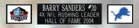 Barry Sanders Signed 35x43 Custom Framed Jersey Display (Beckett COA & Schwartz Sports Hologram) at PristineAuction.com