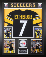 Ben Roethlisberger Signed Steelers 35x43 Custom Framed Jersey Display (Fanatics Hologram) at PristineAuction.com