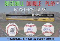 Schwartz Sports Baseball DOUBLE PLAY Mystery Box - Series 2 (Limited to 75) 1 - Baseball & 1 - Full Size Bat IN EVERY BOX!!! at PristineAuction.com