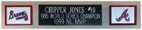 Chipper Jones Signed Braves 35x43 Custom Framed Jersey Display (Beckett COA) at PristineAuction.com