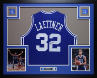 Christian Laettner Signed 35x43 Custom Framed Jersey Display (JSA COA) at PristineAuction.com
