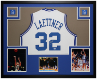 Christian Laettner Signed 35x43 Custom Framed Jersey Display (JSA COA) at PristineAuction.com