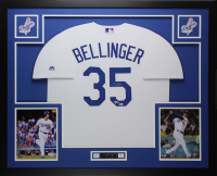 Cody Bellinger Signed Dodgers 35x43 Custom Framed Jersey Display (Fanatics Hologram & MLB Hologram) at PristineAuction.com