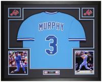 Dale Murphy Signed 35x43 Custom Framed Jersey Display (JSA COA) at PristineAuction.com