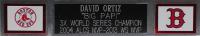 David Ortiz Signed Red Sox 35x43 Custom Framed Jersey Display (Fanatics Hologram & MLB Hologram) at PristineAuction.com