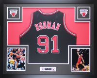 Dennis Rodman Signed 35x43 Custom Framed Jersey Display (JSA COA) at PristineAuction.com