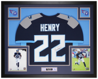 Derrick Henry Signed 35x43 Custom Framed Jersey Display (JSA COA) at PristineAuction.com