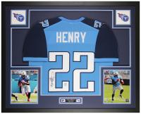 Derrick Henry Signed 35x43 Custom Framed Jersey Display (JSA COA & Henry Hologram) at PristineAuction.com
