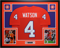 Deshaun Watson Signed 35x43 Custom Framed Jersey Display (JSA COA) at PristineAuction.com
