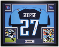 Eddie George Signed 35x43 Custom Framed Jersey Display (Beckett COA) at PristineAuction.com