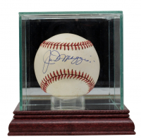 Joe DiMaggio Signed OAL Baseball With Display Case (Beckett LOA) (See Description) at PristineAuction.com