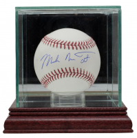 Mike Trout Signed OML Baseball with Full Name Signature with Display Case (Beckett Hologram & MLB Hologram) at PristineAuction.com