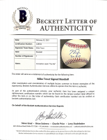 """Mike Trout Signed OML Baseball Inscribed """"The Kid"""" (Beckett LOA & MLB Hologram) at PristineAuction.com"""
