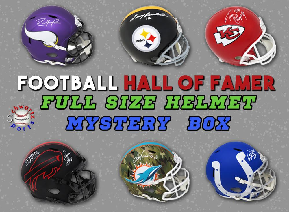 Schwartz Sports Football Hall of Famer Signed Full Size Helmet Mystery Box Series 10 (Limited to 100) at PristineAuction.com