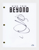 "Sofia Boutella Signed ""Star Trek Beyond"" Movie Script (AutographCOA COA) at PristineAuction.com"