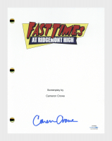 "Cameron Crowe Signed ""Fast Times At Ridgemont High"" Movie Script (AutographCOA COA) at PristineAuction.com"