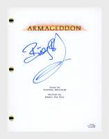 "Billy Bob Thornton Signed ""Armageddon"" Movie Script (AutographCOA COA) at PristineAuction.com"