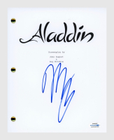 "Mena Massoud Signed ""Aladdin"" Movie Script (AutographCOA COA) at PristineAuction.com"
