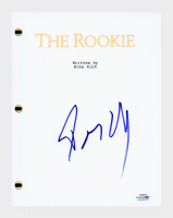 "Dennis Quaid Signed ""The Rookie"" Full Movie Script (AutographCOA COA) at PristineAuction.com"