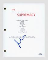 """Matt Damon Signed """"The Bourne Supremacy"""" Movie Script (AutographCOA COA) at PristineAuction.com"""