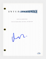 "Matt Damon Signed ""Interstellar"" Movie Script (AutographCOA COA) at PristineAuction.com"