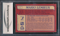 Mario Lemieux 1985-86 O-Pee-Chee #9 RC (BCCG 9) at PristineAuction.com