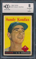 Sandy Koufax 1958 Topps #187 (BCCG 8) at PristineAuction.com