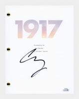 "George MacKay Signed ""1917"" Movie Script (AutographCOA COA) at PristineAuction.com"