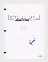 "Riz Ahmed Signed ""Rogue One: A Star Wars Story"" Movie Script (AutographCOA COA) at PristineAuction.com"