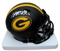 Davante Adams Signed Packers Eclipse Alternate Speed Mini Helmet (Beckett COA) at PristineAuction.com