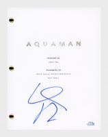"Willem Dafoe Signed ""Aquaman"" Movie Script (AutographCOA COA) at PristineAuction.com"