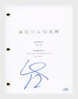 """Willem Dafoe Signed """"Aquaman"""" Movie Script (AutographCOA COA) at PristineAuction.com"""