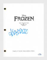 """Kristen Bell Signed """"Frozen"""" Movie Script (AutographCOA COA) at PristineAuction.com"""