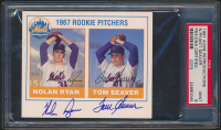 Nolan Ryan & Tom Seaver Signed 1991 Acme Reproductions #620 (PSA 9) at PristineAuction.com
