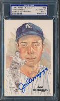 Joe DiMaggio Signed Yankees LE 1980-02 Perez-Steele Hall of Fame Postcard #75 (PSA Encapsulated) at PristineAuction.com
