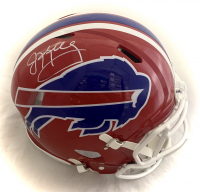 Jim Kelly Signed Bills Full-Size Authentic On-Field Throwback Speed Helmet (Beckett COA) at PristineAuction.com