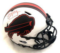 Jim Kelly Signed Bills Full-Size Authentic On-Field Lunar Eclipse Alternate Speed Helmet (Beckett COA) at PristineAuction.com