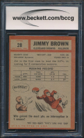 Jim Brown 1962 Topps #28 (BCCG 9) at PristineAuction.com