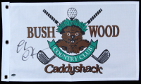 """Chevy Chase Signed """"Caddyshack"""" Bushwood Country Club Pin Flag (Schwartz COA) at PristineAuction.com"""