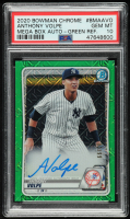 Anthony Volpe 2020 Bowman Chrome Mega Box Prospect Autograph Green Refractors #BMAAVO (PSA 10) at PristineAuction.com